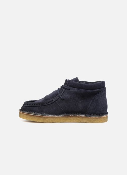 Zapatos con cordones Tinycottons TC Suede boot Azul vista de frente