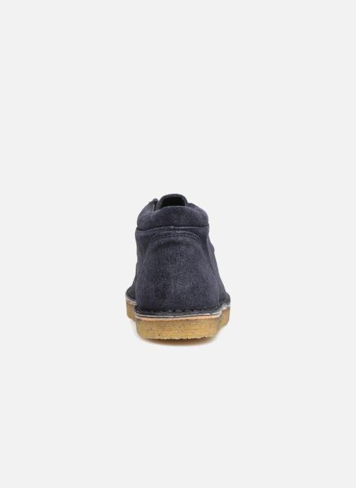 Zapatos con cordones Tinycottons TC Suede boot Azul vista lateral derecha