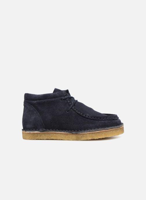 Zapatos con cordones Tinycottons TC Suede boot Azul vistra trasera