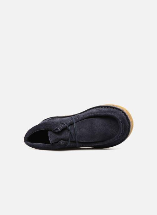 Zapatos con cordones Tinycottons TC Suede boot Azul vista lateral izquierda