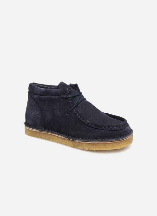 Zapatos con cordones Tinycottons TC Suede boot Azul vista de detalle / par