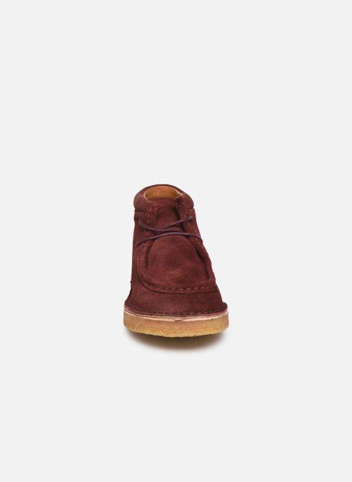 Chaussures à lacets Tinycottons TC Suede boot Violet vue portées chaussures