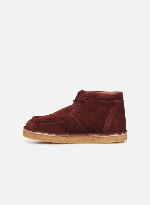 Chaussures à lacets Tinycottons TC Suede boot Violet vue face