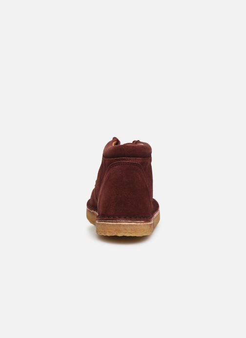 Chaussures à lacets Tinycottons TC Suede boot Violet vue droite