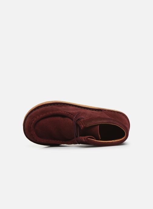 Zapatos con cordones Tinycottons TC Suede boot Violeta      vista lateral izquierda