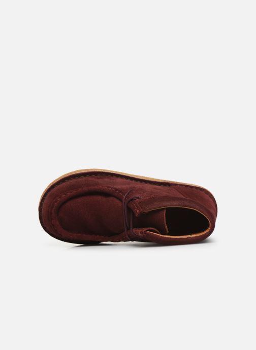 Chaussures à lacets Tinycottons TC Suede boot Violet vue gauche