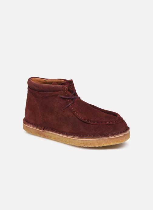 Chaussures à lacets Tinycottons TC Suede boot Violet vue détail/paire