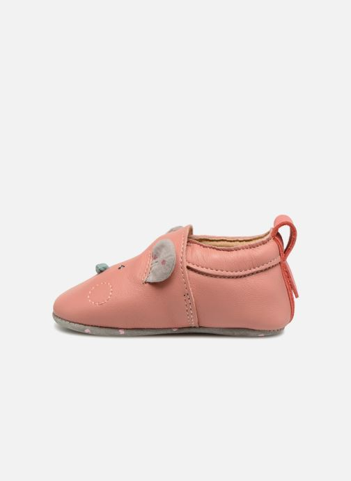 Pantofole Babybotte Sourirose - Moulin Roty Rosa immagine frontale