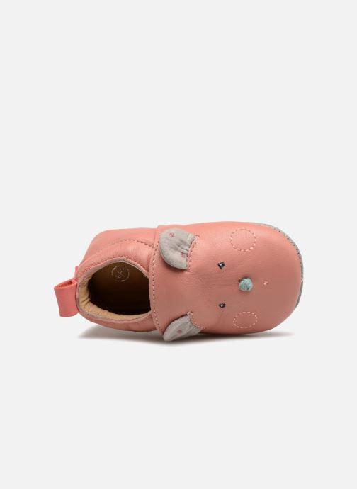 Pantofole Babybotte Sourirose - Moulin Roty Rosa immagine sinistra