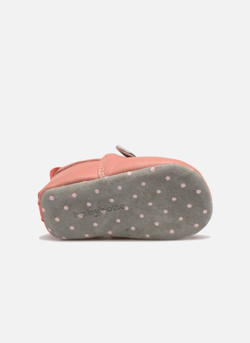 Chaussons Babybotte Sourirose - Moulin Roty Rose vue haut