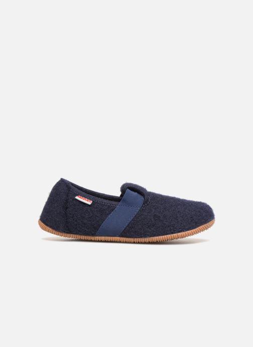 Pantoffels Giesswein Weidach Blauw achterkant