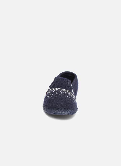Chaussons Giesswein Taben Bleu vue portées chaussures