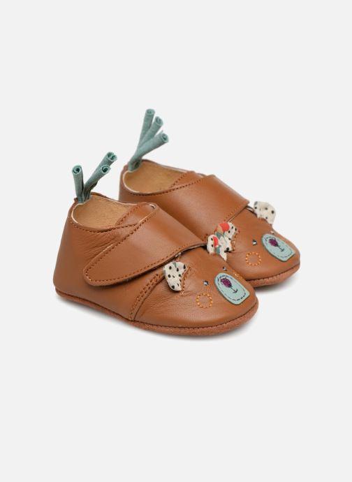 Hjemmesko Babybotte Ours - Moulin Roty Gul detaljeret billede af skoene
