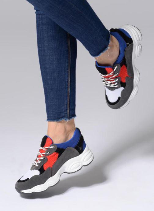 Baskets I Love Shoes THICHUNK Bold Bleu vue bas / vue portée sac