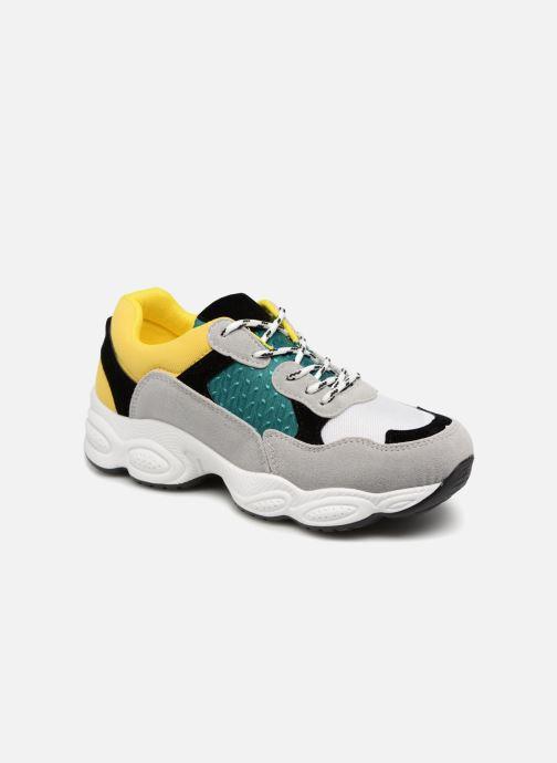 Baskets I Love Shoes THICHUNK Bold Jaune vue détail/paire