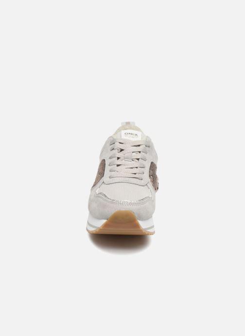 Sneaker ONLY onlSMILLA ELEVATED GLITTER SNEAKER grau schuhe getragen