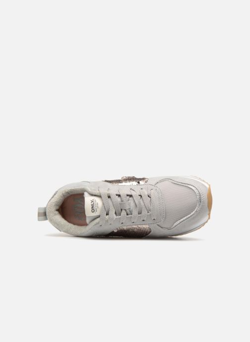 Sneaker ONLY onlSMILLA ELEVATED GLITTER SNEAKER grau ansicht von links