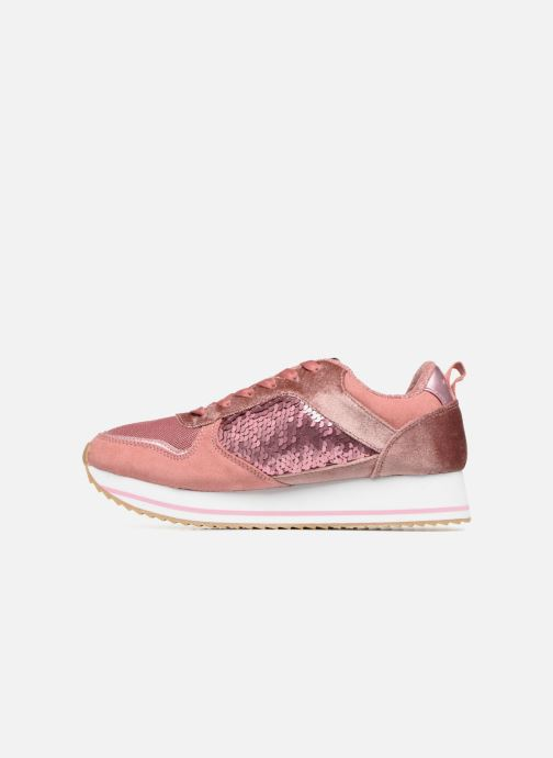 Sneakers ONLY onlSMILLA ELEVATED GLITTER SNEAKER Roze voorkant