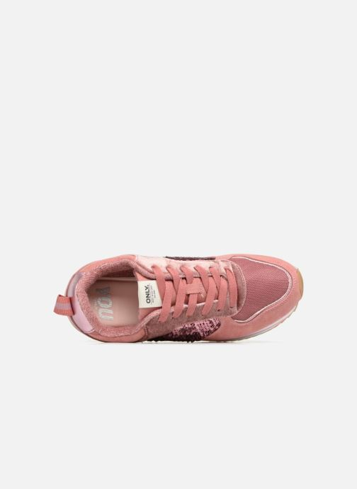 Sneaker ONLY onlSMILLA ELEVATED GLITTER SNEAKER rosa ansicht von links