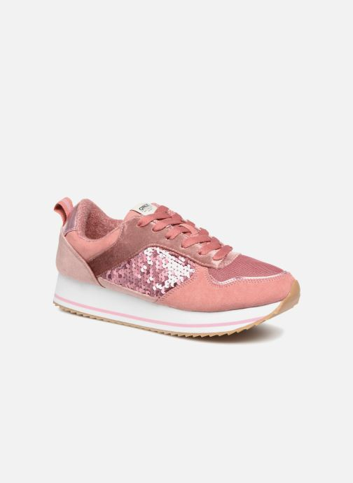 Baskets ONLY onlSMILLA ELEVATED GLITTER SNEAKER Rose vue détail/paire