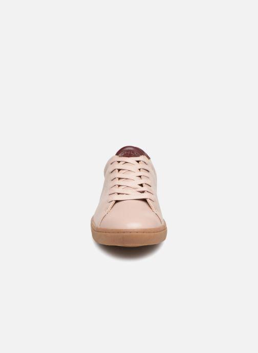 Sneakers ONLY onlSILJA PU SNEAKER Rosa modello indossato