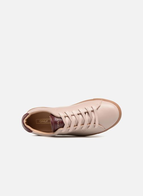 Baskets ONLY onlSILJA PU SNEAKER Rose vue gauche