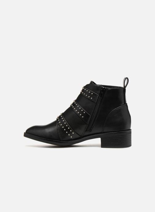 Bottines et boots ONLY OnlBRIGHT PU BOOTIE Noir vue face