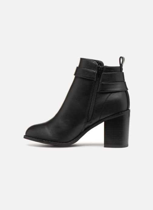 Ankle boots ONLY onlBINO HEELED PU BOOTIE Black front view