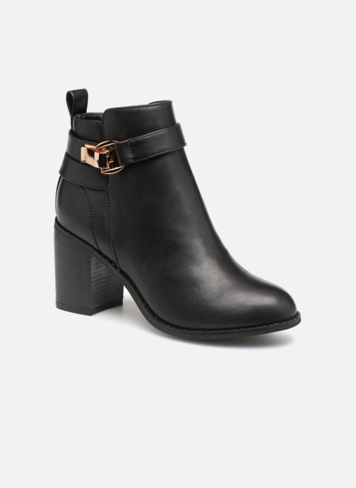 Ankle boots ONLY onlBINO HEELED PU BOOTIE Black detailed view/ Pair view