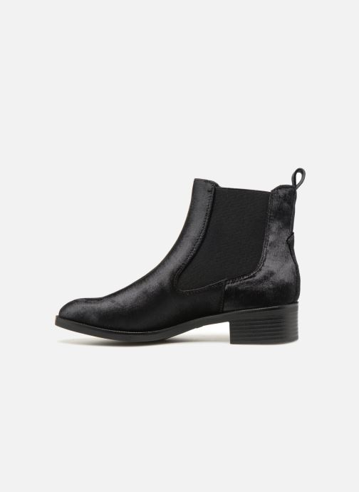 Bottines et boots ONLY onlBRIGHT VELVET PU BOOTIE Noir vue face