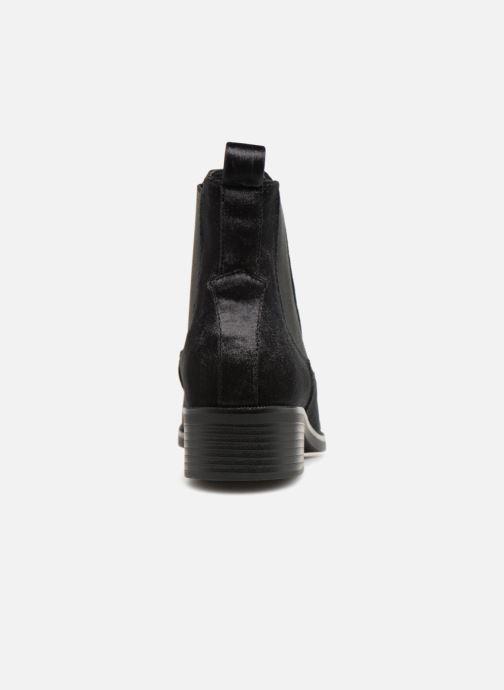 Bottines et boots ONLY onlBRIGHT VELVET PU BOOTIE Noir vue droite