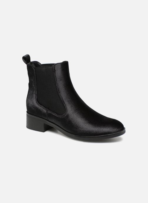 Bottines et boots ONLY onlBRIGHT VELVET PU BOOTIE Noir vue détail/paire
