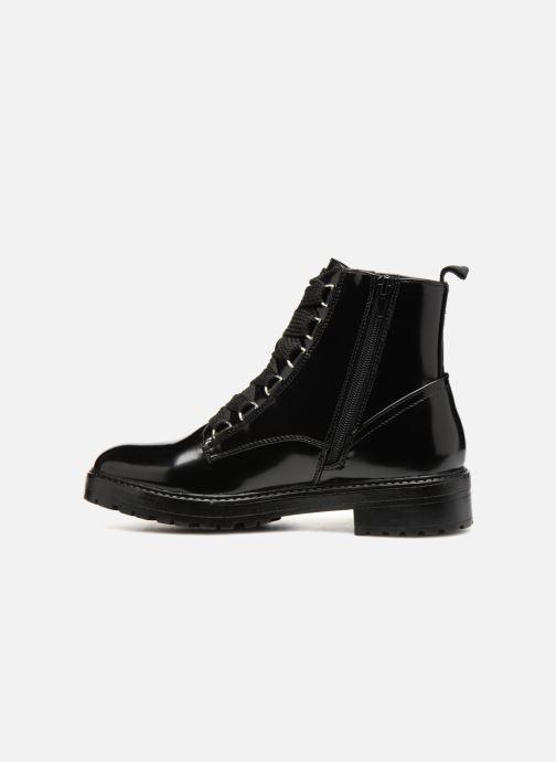 Bottines et boots ONLY onlBAD PATENT LACE UP BOOTIE Noir vue face