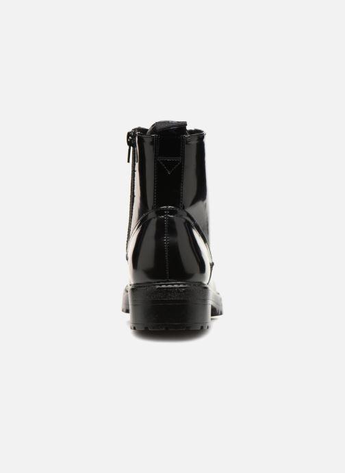 Bottines et boots ONLY onlBAD PATENT LACE UP BOOTIE Noir vue droite