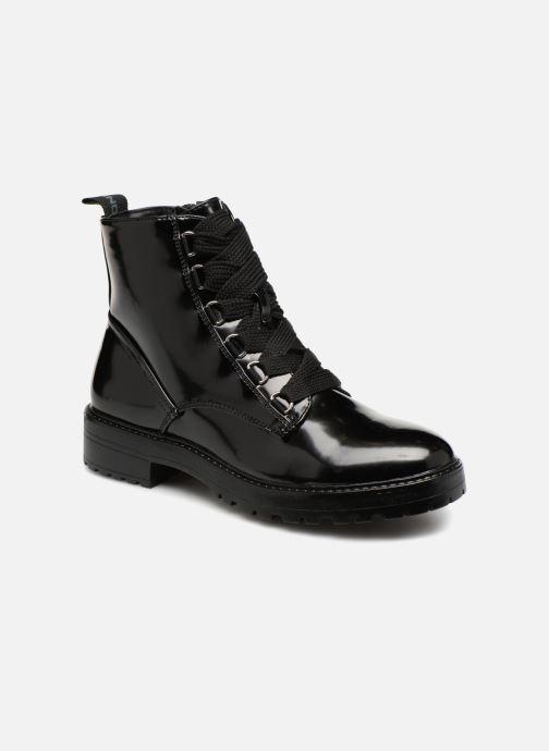 Bottines et boots ONLY onlBAD PATENT LACE UP BOOTIE Noir vue détail/paire