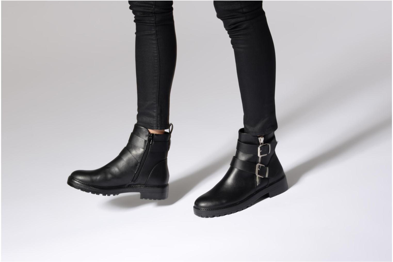 Boots en enkellaarsjes ONLY onlBAD BUCKLE PU BOOTIE Zwart onder