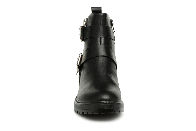 Boots en enkellaarsjes ONLY onlBAD BUCKLE PU BOOTIE Zwart model