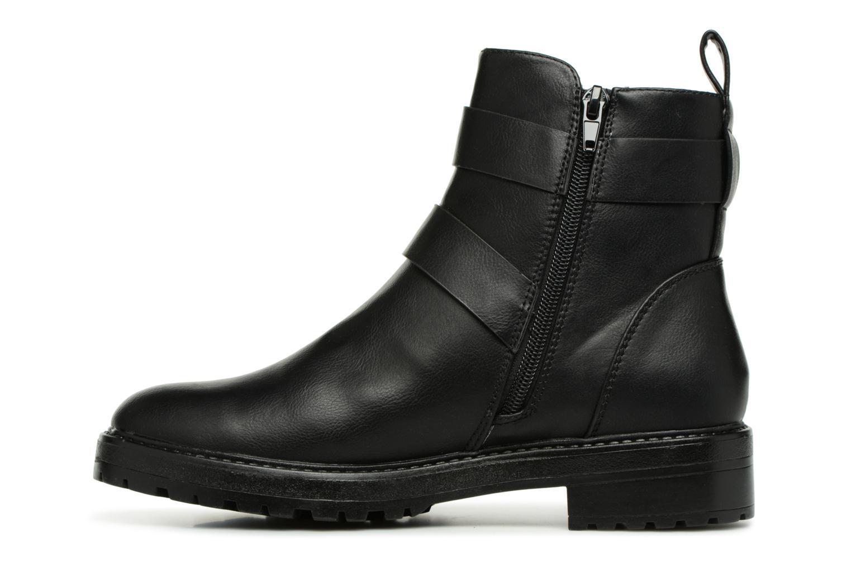 Boots en enkellaarsjes ONLY onlBAD BUCKLE PU BOOTIE Zwart voorkant