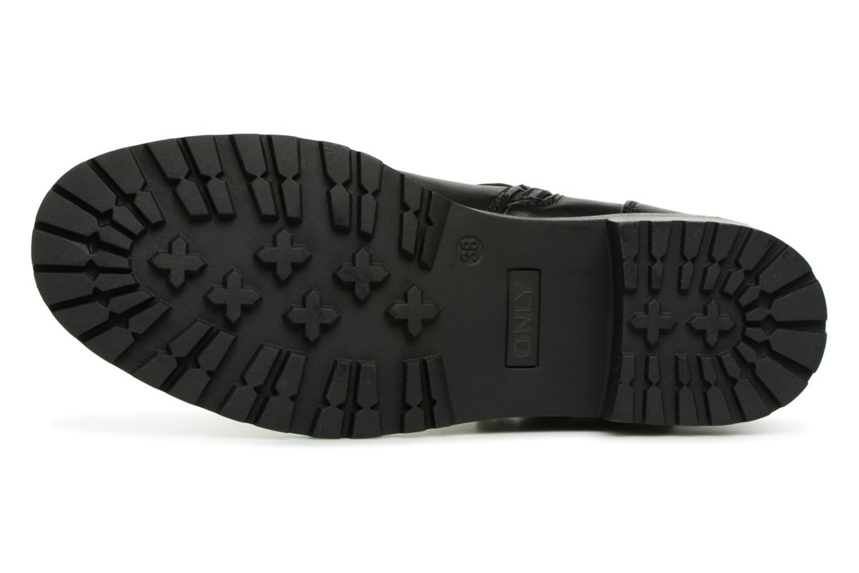 Boots en enkellaarsjes ONLY onlBAD BUCKLE PU BOOTIE Zwart boven