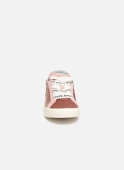 Baskets Pepe jeans Portobello Velvet Rose vue portées chaussures