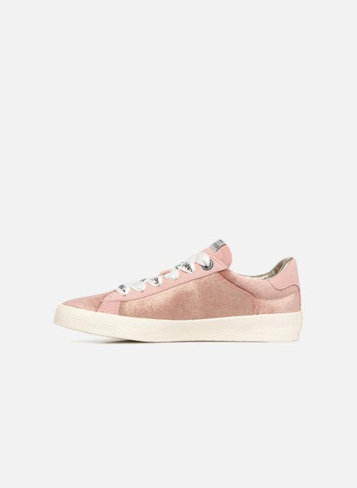 Sneaker Pepe jeans Portobello Velvet rosa ansicht von vorne
