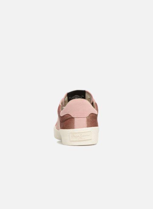 Baskets Pepe jeans Portobello Velvet Rose vue droite