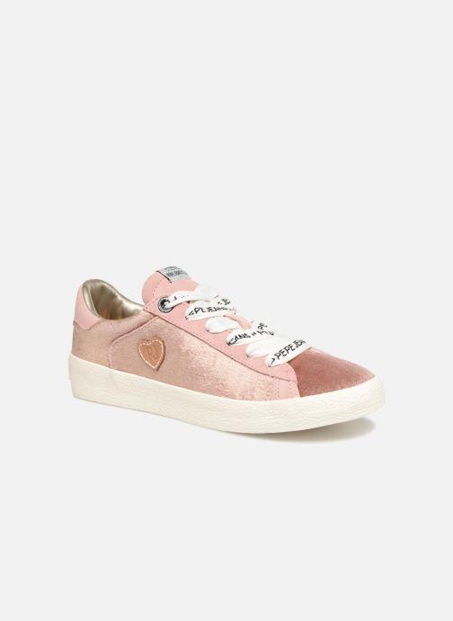 Baskets Pepe jeans Portobello Velvet Rose vue détail/paire