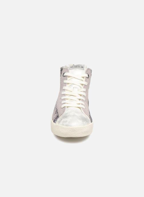 Baskets Pepe jeans Portobello Sequins Argent vue portées chaussures