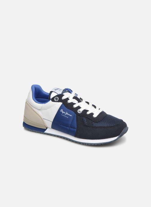 Baskets Pepe jeans Sydney Basic Bleu vue détail/paire