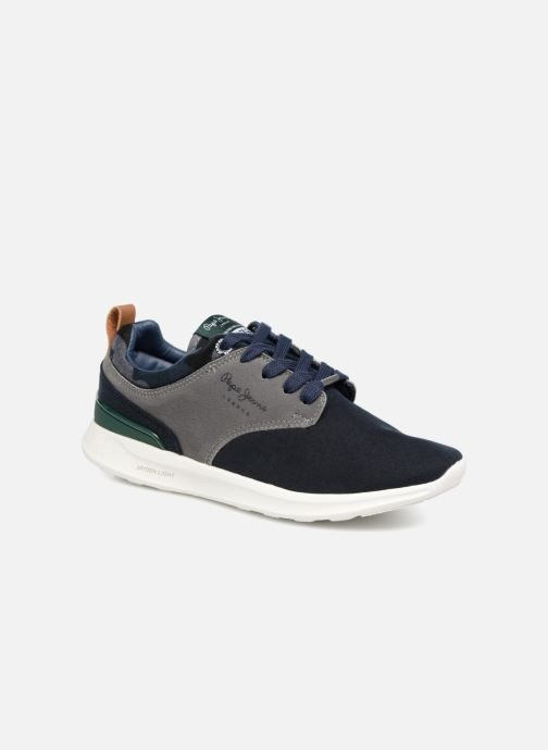 Baskets Pepe jeans Jayden Basic Junior Bleu vue détail/paire