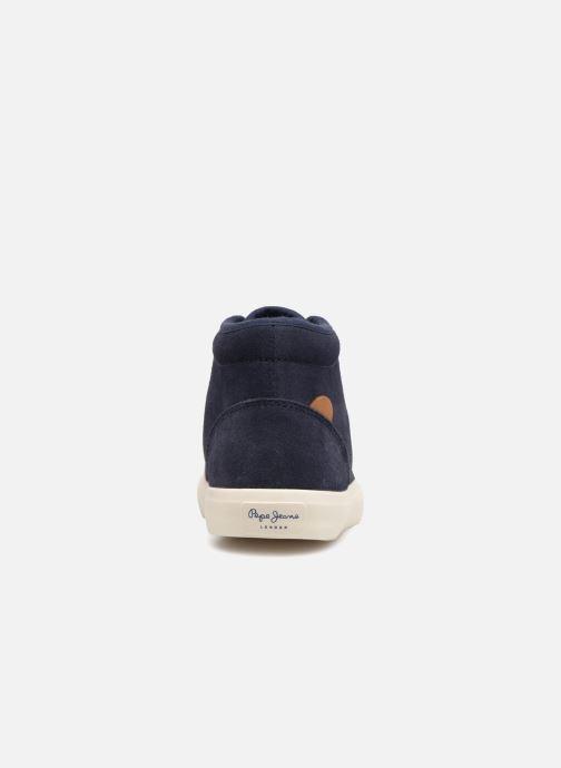Baskets Pepe jeans Traveler Bootie Bleu vue droite