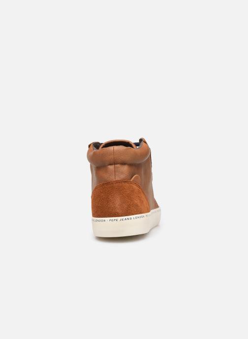 Sneaker Pepe jeans Traveler Bootie braun ansicht von rechts