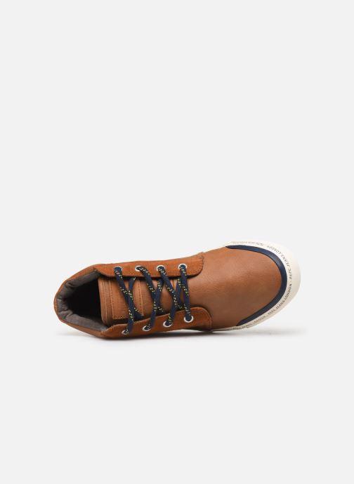 Sneaker Pepe jeans Traveler Bootie braun ansicht von links