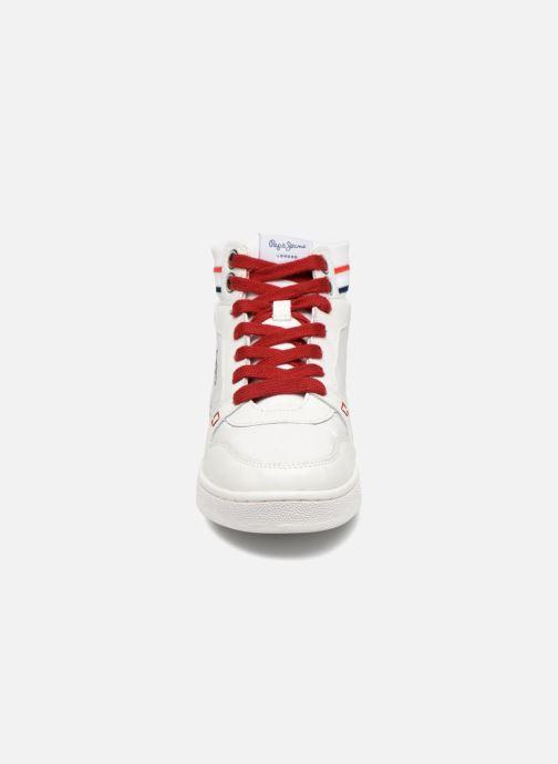 Baskets Pepe jeans Brompton Blanc vue portées chaussures